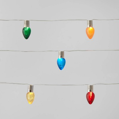 30ct LED Dewdrop C Bulb String Lights Multicolored with Silver Wire - Wondershop™