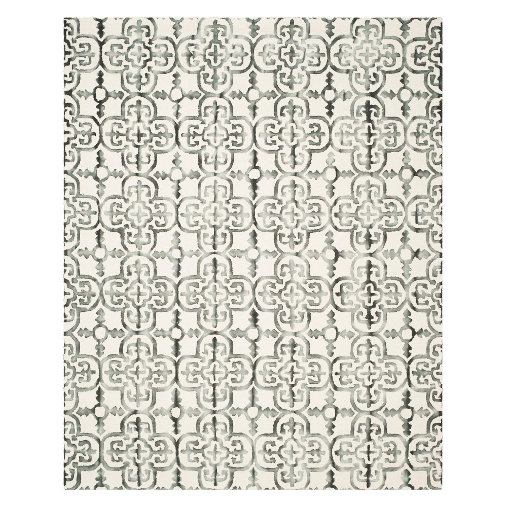 Medallion Area Rug Ivory/Charcoal