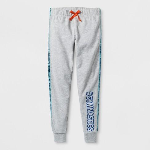 Girls' Athletic Dance Activewear Jogger Pants - Heather Gray XL : Target