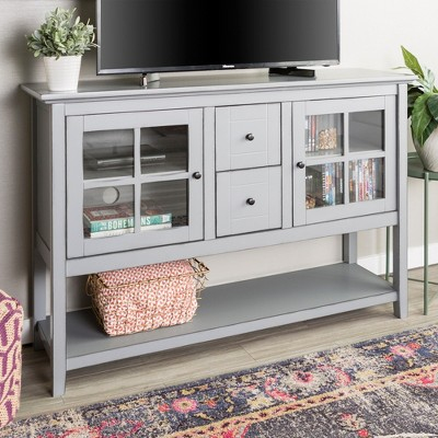 52  Wood Console Table Buffet TV Stand - Vintage Gray - Saracina Home