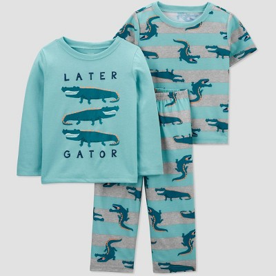 Toddler Boys' 3pc Alligator Pajama Set - Just One You® made by carter's Blue/Gray