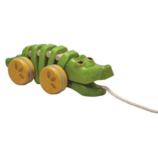 PlanToys Preschool Dancing Alligator Pull Along Toy image number null
