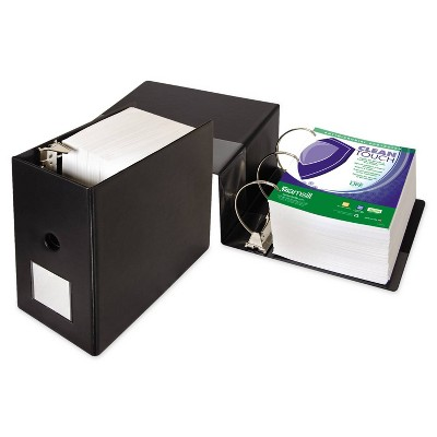 """1250 Sheet 6"""" Clean Touch Antimicrobial Locking D-Ring Binder Black - Samsill"""