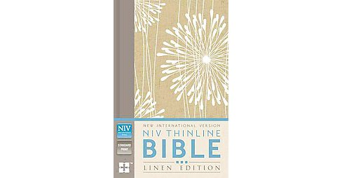 Holy Bible : New International Version, Abstract Floral, Thinline, Standard, Linen Edition (Hardcover) - image 1 of 1