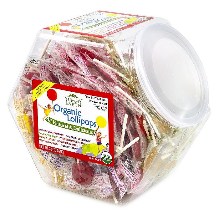 Organic Fruit Lollipops Jar - 125ct - image 1 of 1