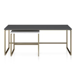 Scarlett Nesting Coffee and End Tables Gray - CosmoLiving by Cosmopolitan