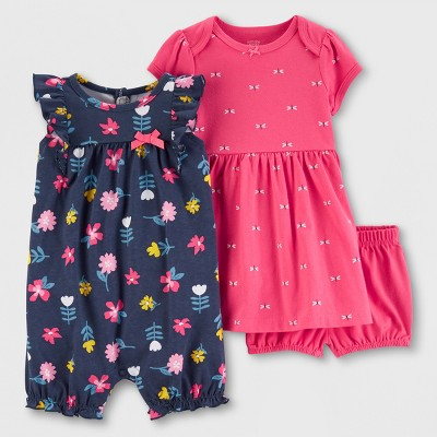 Baby Girls' 2pk Dress Sets - Just One You® made by carter's Navy/Pink 3M
