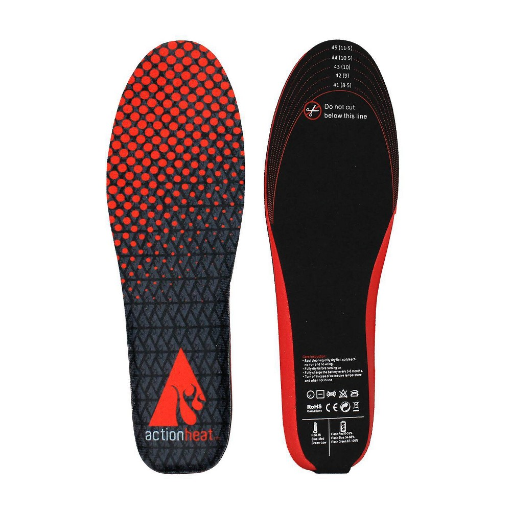 Image of ActionHeat Rechargeable Heated Insoles - Black L/XL, Size: Large/XL