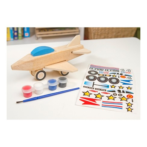 Melissa & Doug Decorate-Your-Own Wooden Jet Plane Craft Kit - image 1 of 3