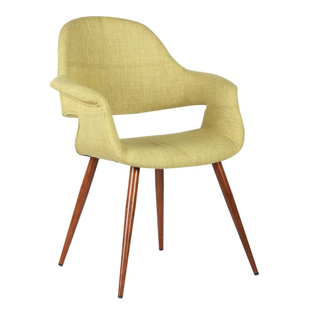 Livingston Mid Century Dining Chair Walnut Armen Living