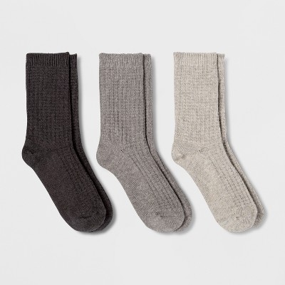 Women's 3pk Waffle Crew Socks - Universal Thread™ 4-10