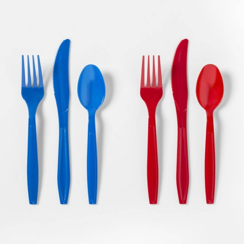 24ct 4th of July Cutlery Red and Blue - Sun Squad™ - image 1 of 2