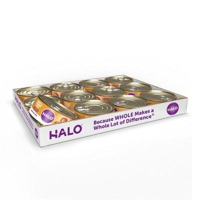 Halo Adult Wet Dog Food Turkey & Salmon Stew - 5.5oz/12ct Pack