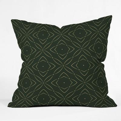 Marta Barragan Camarasa Vintage Emerald Pattern Throw Pillow Green - Deny Designs