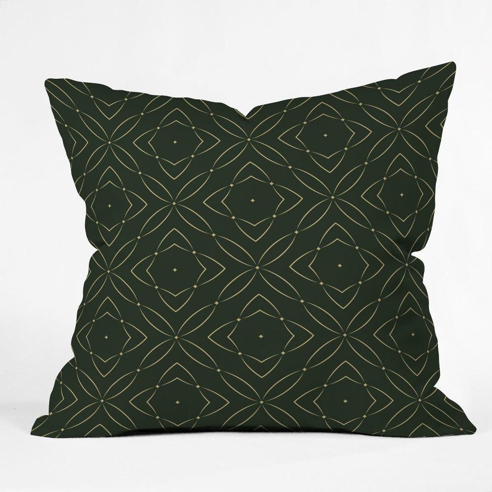 Marta Barragan Camarasa Vintage Emerald Pattern Square Throw Pillow Green Deny Designs