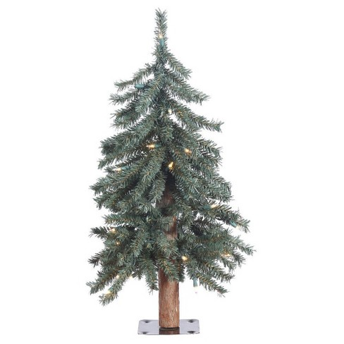 2 ft Pre-Lit Pine Artificial Christmas Tree With White LED Lights - image 1 of 1