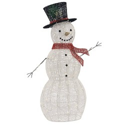 Philips Christmas LED Glitter Snowman Pure White Novelty Sculpture with 120 Lights