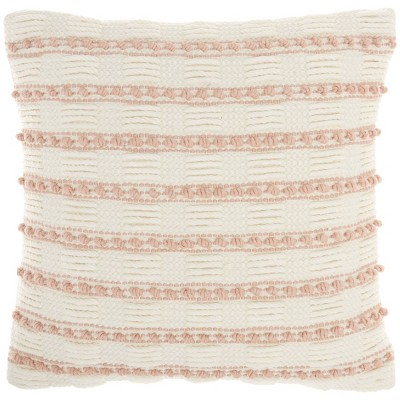 """18""""x18"""" Life Styles Woven Lines and Dots Square Throw Pillow - Mina Victory"""