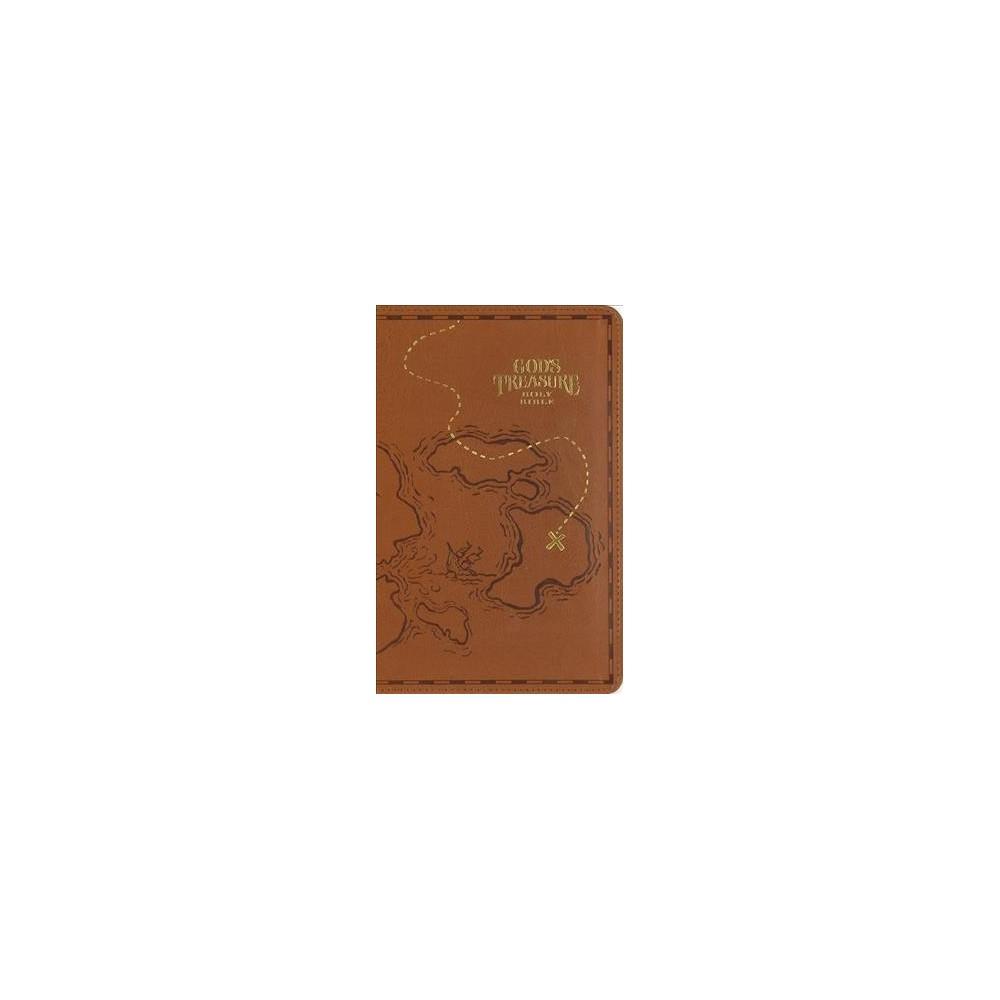 God's Treasure Holy Bible : New International Version, Dark Tan Leathersoft: Golden Promises & Priceless