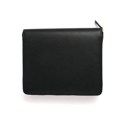 "1"" Round Ring Mini Binder Soft Vegan Leather Black - Russell+Hazel"