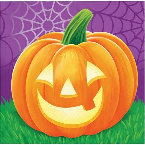 48ct Halloween Pumpkins Beverage Napkins Target