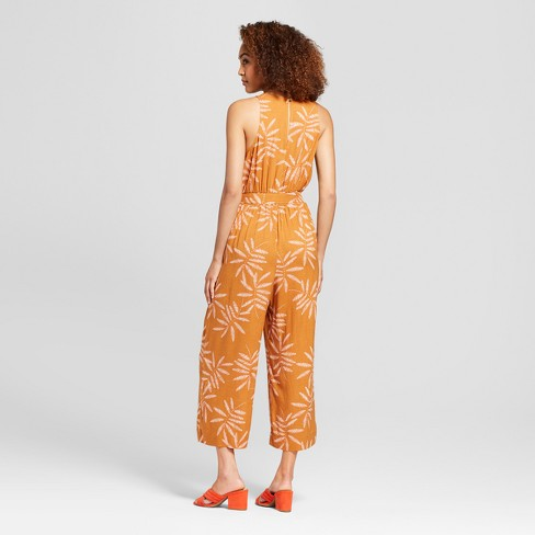 122f661ccb03 Women s Printed Jumpsuit - A New Day™ Rust   Target