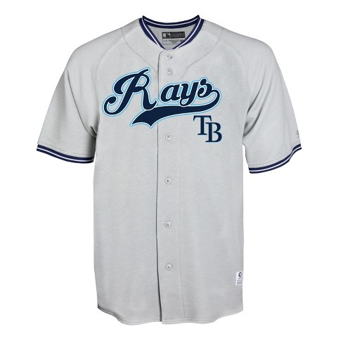 online store 2f819 13f75 Tampa Bay Rays Men's Gray Retro Team Jersey - XL
