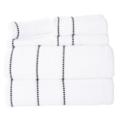 Solid Bath Towels And Washcloths 6pc White - Yorkshire Home