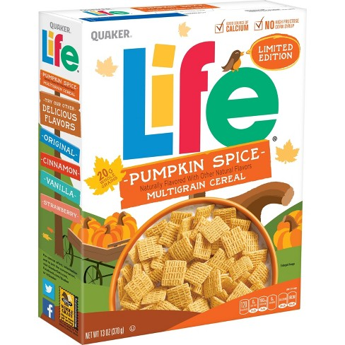 Life Pumpkin Spice Breakfast Cereal - 13oz - Quaker - image 1 of 5