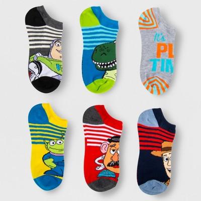 Boys' Disney Toy Story 4 6pk No Show Socks - M