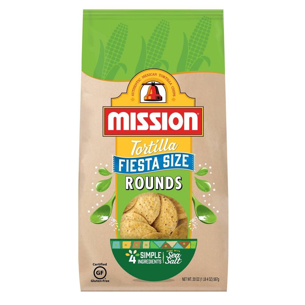 Mission Fiesta Size Round Tortilla Chips - 20oz