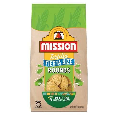 Mission Fiesta Size Round Tortilla Chips - 20oz - image 1 of 2