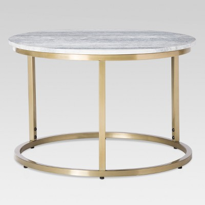 Small Marble Top Coffee Table - Gold - Threshold™