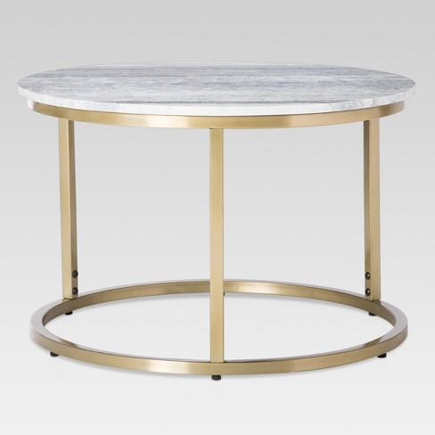 marble top side table Marble Top Coffee Table   Threshold™ : Target marble top side table