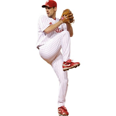 8pc Cliff Lee Fathead Teammate MLB Wall Sticker Set - Philadelphia Phillies..