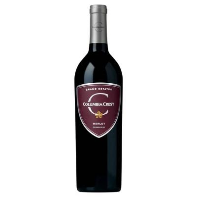 Columbia Crest Grand Estate Merlot Red Wine - 750ml Bottle