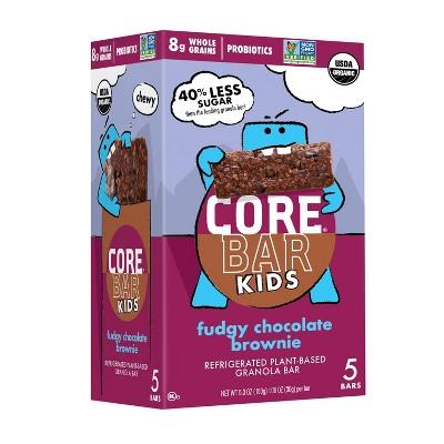 CORE Kids Plant-Based Granola Bars Fudgy Chocolate Brownie – 5pk