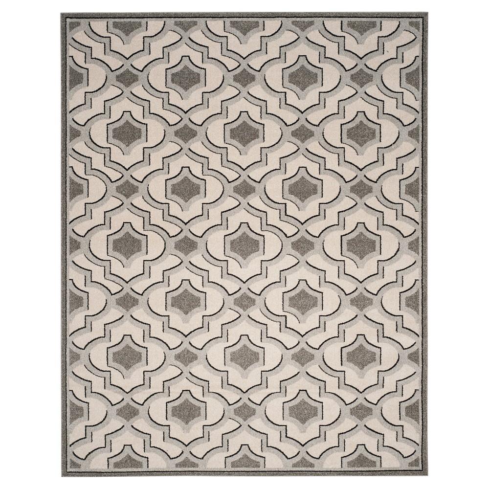 Ivory/Gray Geometric Loomed Area Rug - (8'X10') - Safavieh, White
