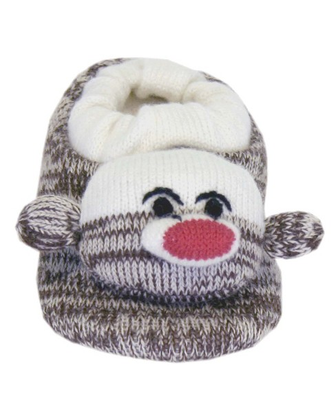 Infant SoftO Sock Monkey Slipper - Brown - image 1 of 1