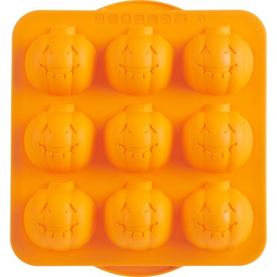 Trudeau Silicone Jack-O-Lantern Baking Pan Orange