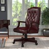 Classic Executive Oxblood Vinyl Chair With Mahogany Finish Burgundy - Boss Office Products - image 2 of 4