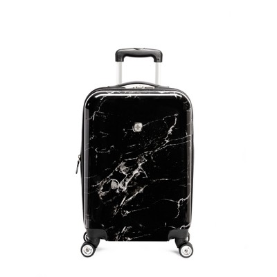 SWISSGEAR 20  Hardside Carry On Suitcase - Black Marble