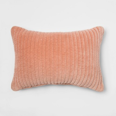 Quilted Velvet Lumbar Throw Pillow Plush - Project 62™