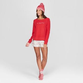 Women's Dear Santa, I Tried 4pc Pajama Set - Xhilaration™ Red L