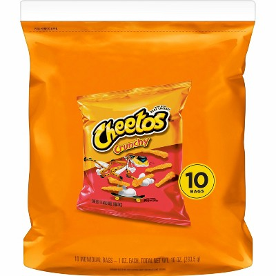 Cheetos Crunchy Cheese Flavored Snacks - 10ct