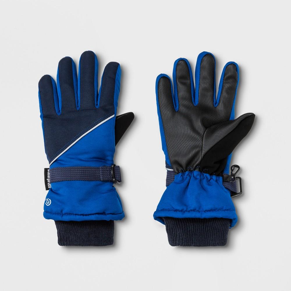Boys' Ski Gloves - C9 Champion Blue 8-16