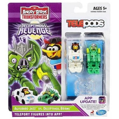 Autobird Jazz vs. Deceptihog Brawl Pig | Transformers Angry Birds Telepods Action figures