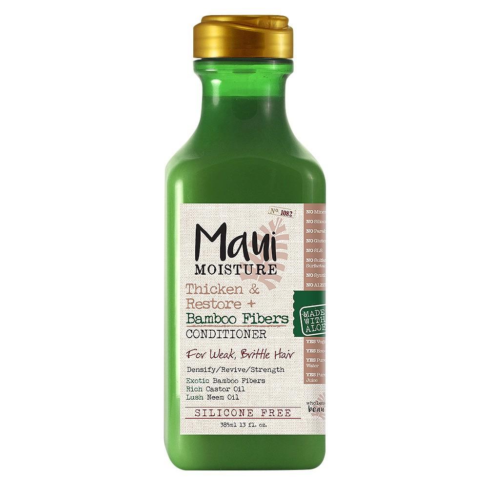 Maui Moisture Thicken & Restore + Bamboo Fibers Conditioner for Weak Brittle Hair - 13 fl oz