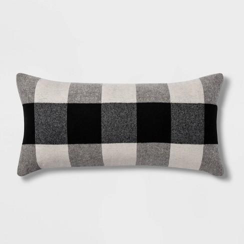 Woven Buffalo Check Throw Pillow - Threshold™ - image 1 of 3