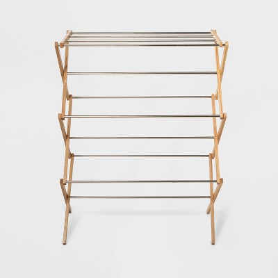 Rubber Wood and Stainless Steel Drying Rack - Room Essentials™